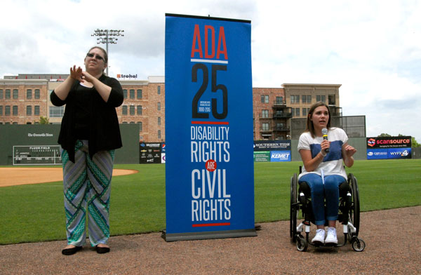 speakers at an ADA Rally