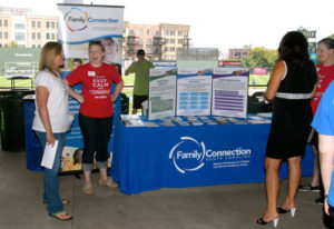 Staff of Family Connection as a resource fair