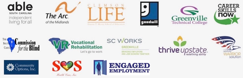 Logos of employment service providers